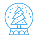 snowglobe, decor, decoration, Tree, Snow, christmas Black icon