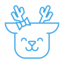 happy, Animal, smile, Emoticon, deer, Emoji, reindeer Black icon