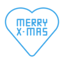 Heart, love, Favourite, christmas, merry Black icon