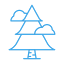 Cloud, christmas, winter, Tree, plant, Forest Icon