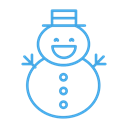 Man, Snow, christmas, winter, snowman Black icon