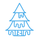 plant, Snow, winter, Tree, Cold Black icon