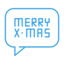 Message, Text, christmas, Conversation, greeting, merry Black icon