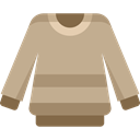 christmas, Jersey, Clothes, clothing, fashion, sweater, Pullover, Garment Tan icon