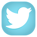 Social, Android, media, Apps, twitter SkyBlue icon