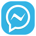 Apps, Messenger, Social, Android, media MediumTurquoise icon