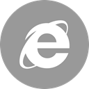 online, Explorer, Social, media DarkGray icon