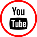 media, online, Social, youtube Red icon