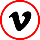 Social, media, online, Vimeo Red icon