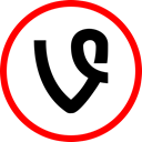 media, online, Social, Vine Red icon