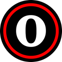online, Social, media, Opera Black icon