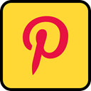 media, online, Social, pinterest Gold icon