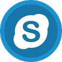 video, Audio, online, Skype DarkCyan icon