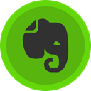 Social, elephant, Evernote, media, Note OliveDrab icon