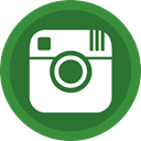 Instagram, network, online, picture ForestGreen icon