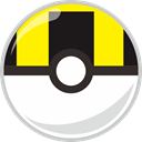 Ball, ultra, Mon, poke, pocket monster Yellow icon