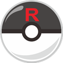 Ball, Rocket, team, poke, pocket monster Icon