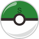 Ball, safari, poke, pocket monster ForestGreen icon