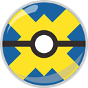 poke, pocket monster, quick, Ball Gold icon