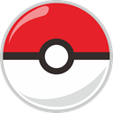 pocket monster, Ball, pocket, poke Crimson icon