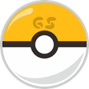 Ball, Gs, pocket, pocket monster Orange icon
