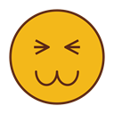 Face, smiley, Emoticon, Emoji Goldenrod icon
