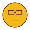 Emoticon, Emoji, Smart, Face, smiley Goldenrod icon