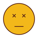 Angry, Emoji, Coma, Face, Emoticon, sad Goldenrod icon