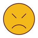 Face, Emoticon, sad, Emoji Goldenrod icon