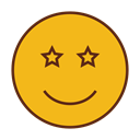 Emoticon, Emoji, star, Face, smiley Goldenrod icon