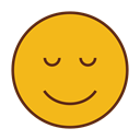 Face, smiley, Emoticon, sleep, Emoji Goldenrod icon