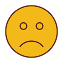Face, Emoticon, sad, Angry, Emoji Goldenrod icon