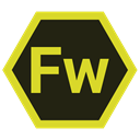 Fw, hexa, tool, adobe Black icon