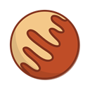 planet, space, Jupiter Sienna icon