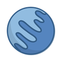neptune, planet, space SteelBlue icon