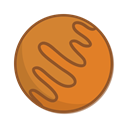 pluto, planet, space Chocolate icon
