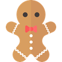christmas, Holiday, xmas, gingerbread man SandyBrown icon