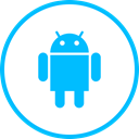 media, Logo, Android, Social DeepSkyBlue icon