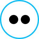 Social, media, Logo, flickr DeepSkyBlue icon