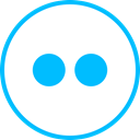 media, Logo, flickr, Social DeepSkyBlue icon