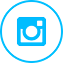 media, Logo, Social, Instagram DeepSkyBlue icon