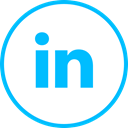 media, Logo, Linkedin, Social DeepSkyBlue icon