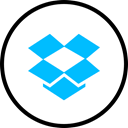 media, dropbox, Logo, Social DeepSkyBlue icon
