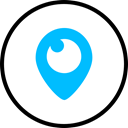 media, Logo, Social, Periscope DeepSkyBlue icon
