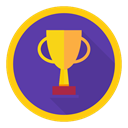 win, trophy, Best, reward, Achievement DarkSlateBlue icon
