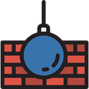 tool, Chain, Construction, demolition, Construction And Tools, Wrecking Ball Black icon