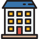 real estate, residential, flat, Block, Building, buildings, Apartment, Apartments WhiteSmoke icon