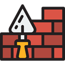 Brick, Bricks, wall, Home Repair, Improvement, Construction And Tools, Construction, buildings, brick wall, Tools And Utensils Black icon