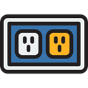 Electric, plugin, electrical, technology, electronics, Connection, Socket Black icon