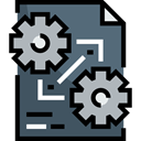 cogwheel, Organization, Seo And Web, document, File, Archive DarkSlateGray icon